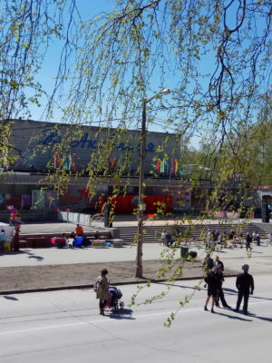 "Damira Avgustinovich. Дом культуры ""Академия"", подготовка к майским праздникам."